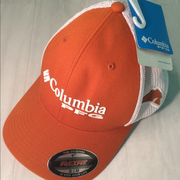 Orange Columbia PFG unisex mesh hat 88bb0fa0804